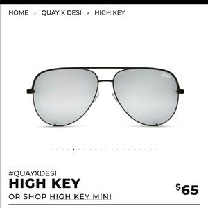 Quay x Desi HIGH KEY black/sliver